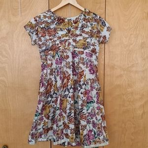 Cottagecore baby doll floral summer dress